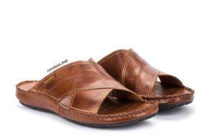 pikolinos sandal color cuero abierta