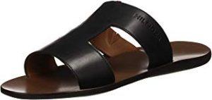 Elegante sandalia original de cuero abierta